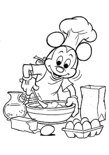 Mickey Mouse Coloring Pictures
