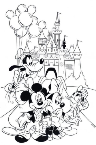 Mickey Mouse Disneyland Coloring Page