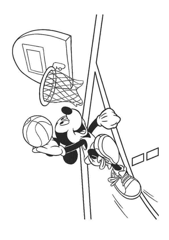 Mickey Playing Basketball
