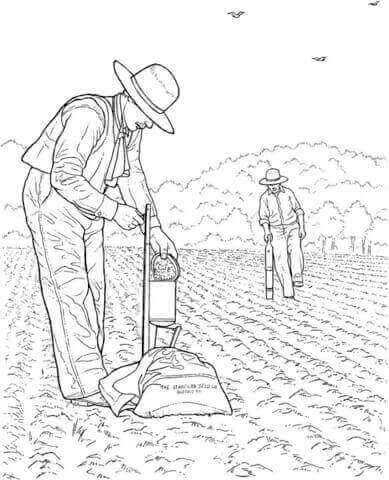 Realistic Farm Coloring Page