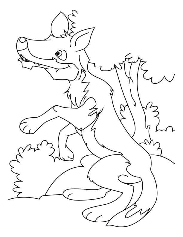 Wolf Coloring Pages For Preschoolers