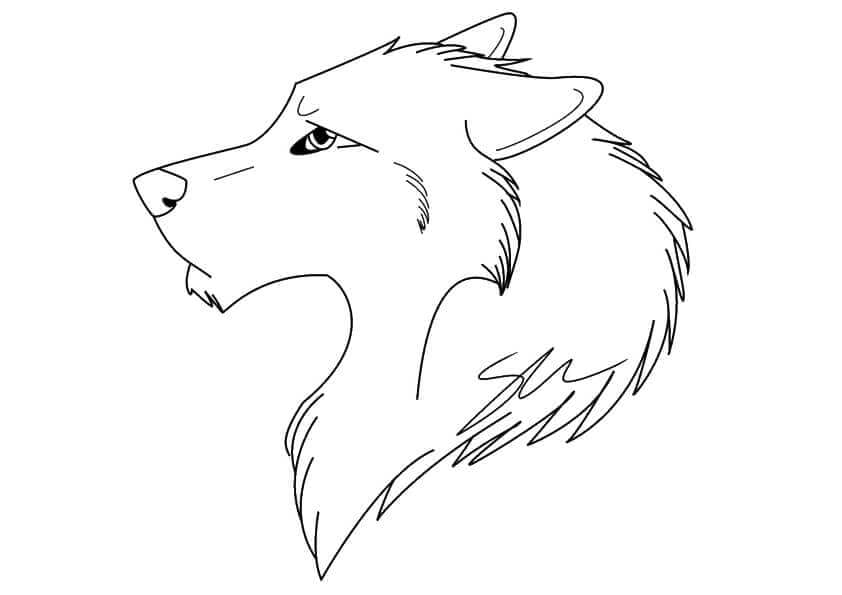 Wolf Head Coloring Page