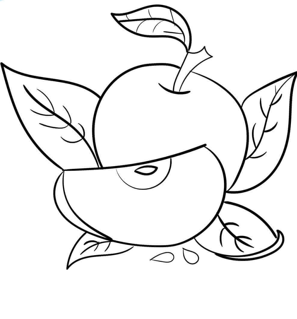 Apple Coloring Pictures