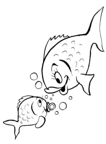 Baby Fish With Mama Fish