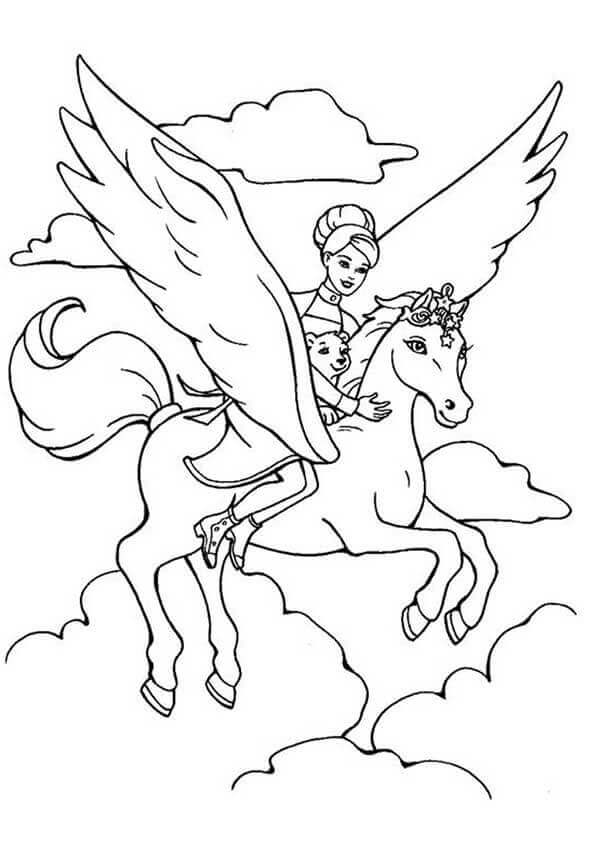 Barbie And The Magic Of Pegasus Coloring Page