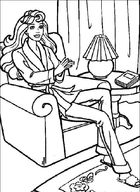 Barbie Colouring Pages