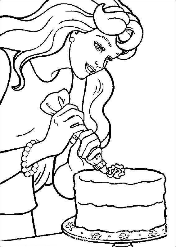 Barbie Making A Cake