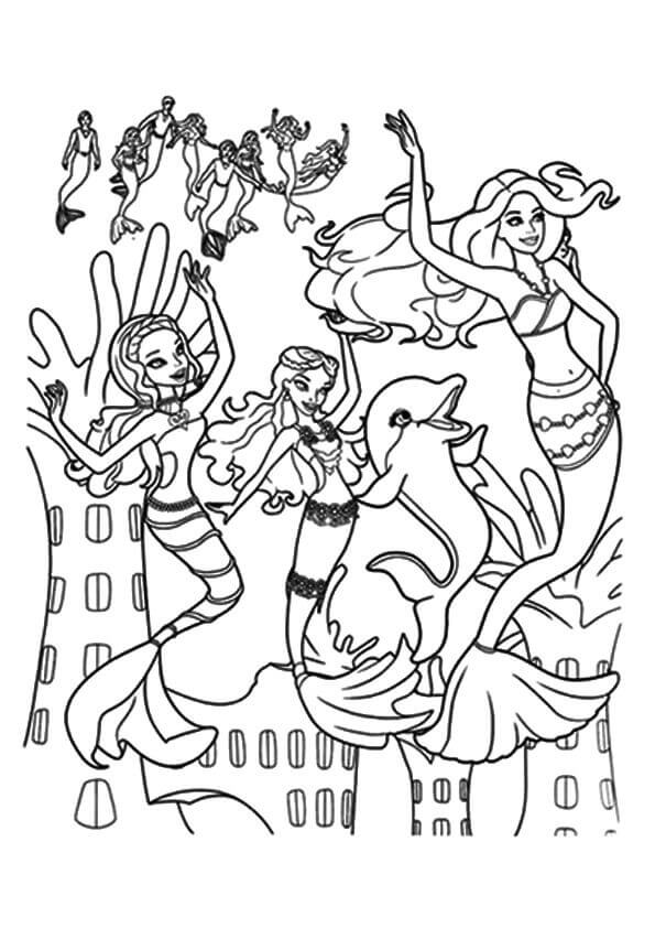 Barbie in A Mermaid Tale Coloring Page