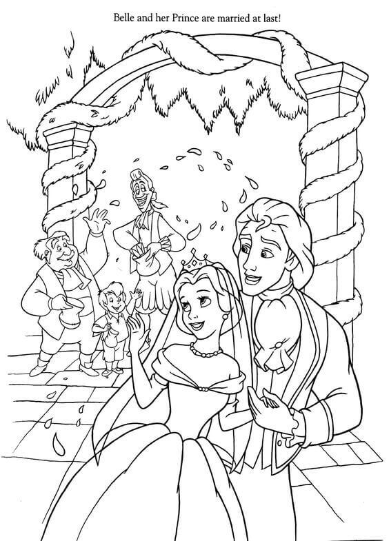 Belle Coloring Pictures To Print