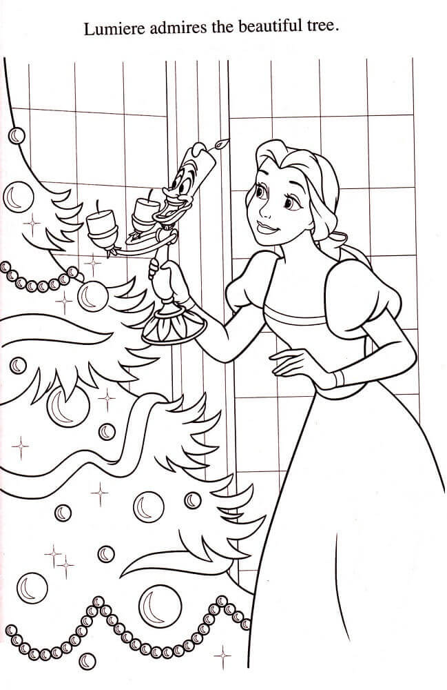 Belle Decorating Christmas Tree