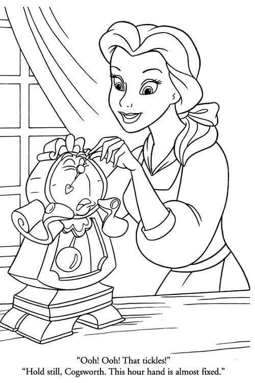 Belle Fixing Cogsworth