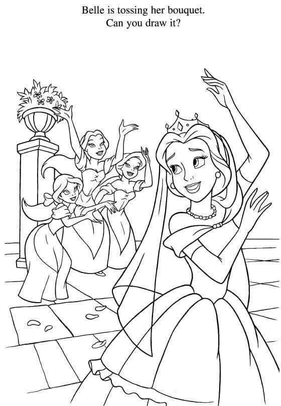 Belles Wedding Coloring Page