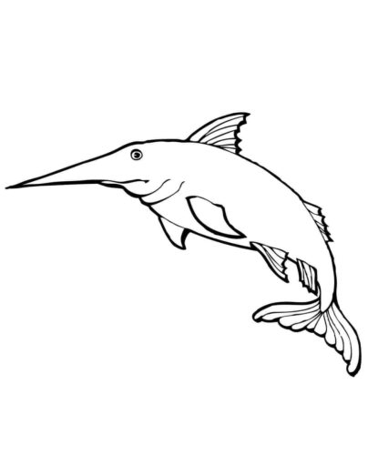 Blue Marlin Coloring Page