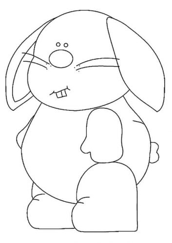 Bunny Coloring Pages For Preschoolers