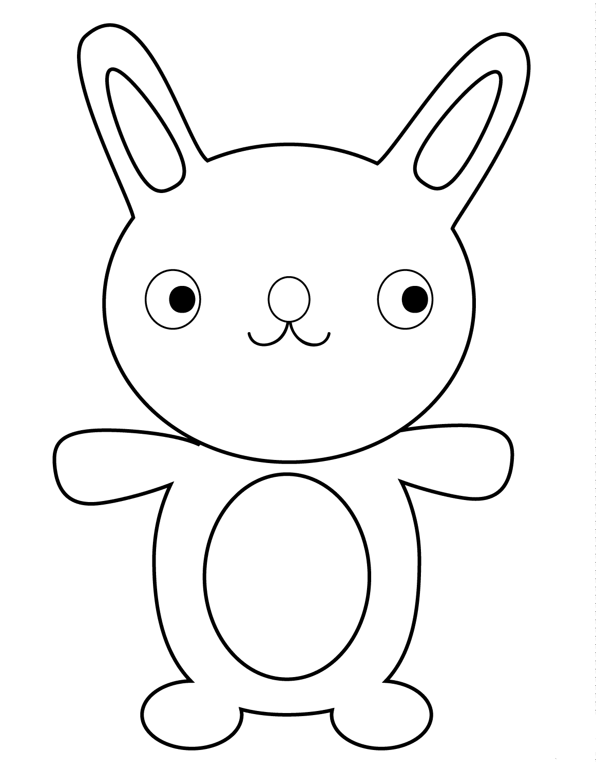 Cartoon Bunny Coloring Page