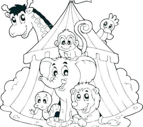 Circus Coloring Sheets