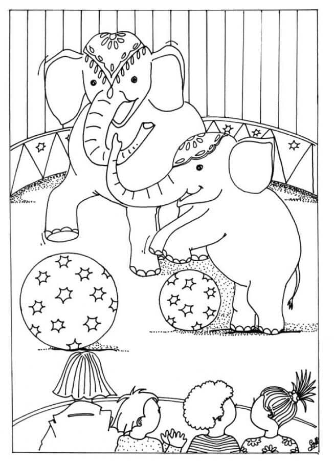 Circus Colouring Pages