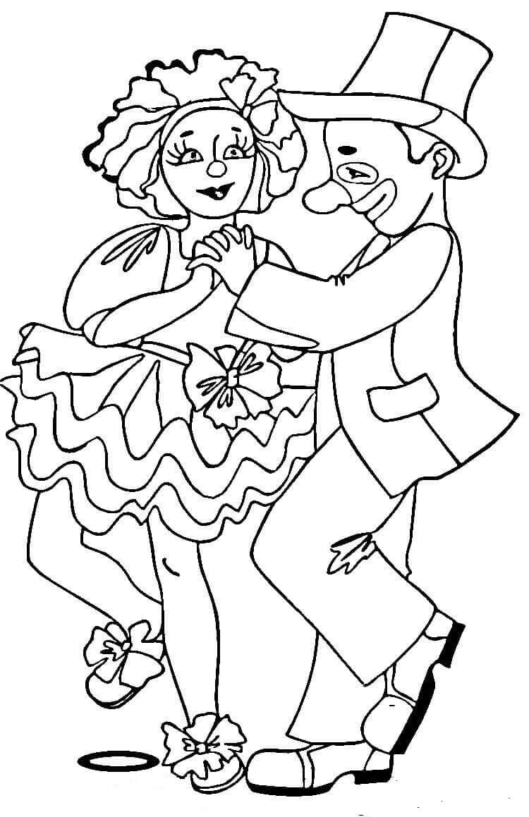 Circus Performance Coloring Page