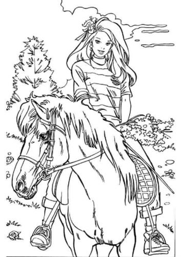 Coloring Pages Of Barbie Doll