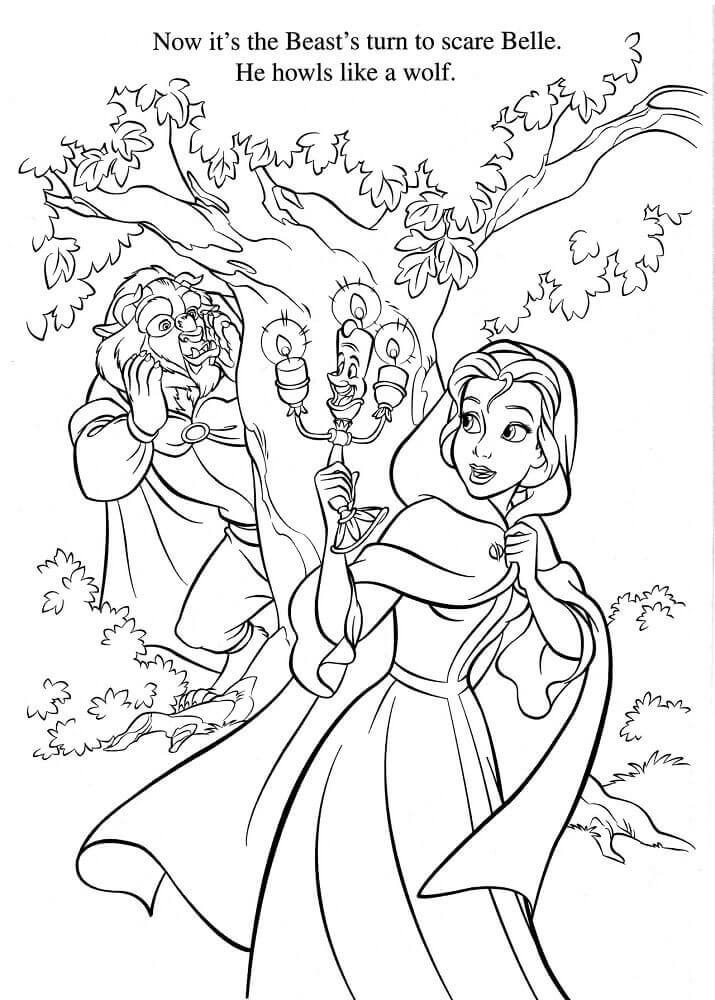 Coloring Pages Of Princess Belle