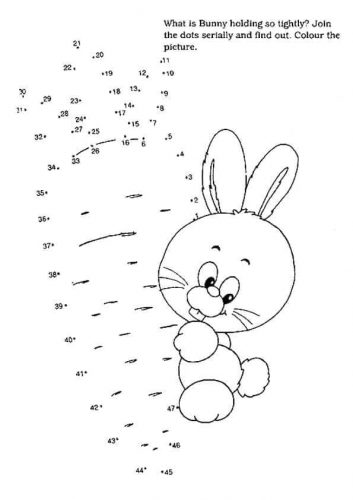 Connect The Dots Bunny Activity Sheet
