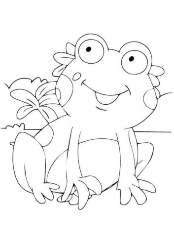 Cute Frog Coloring Page