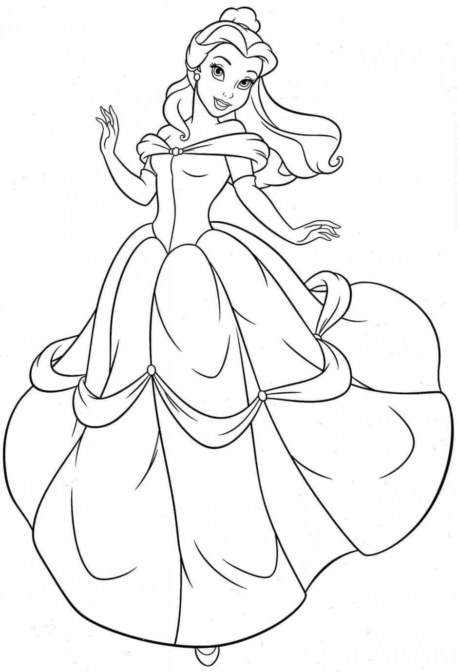 Disney Belle Coloring Pages
