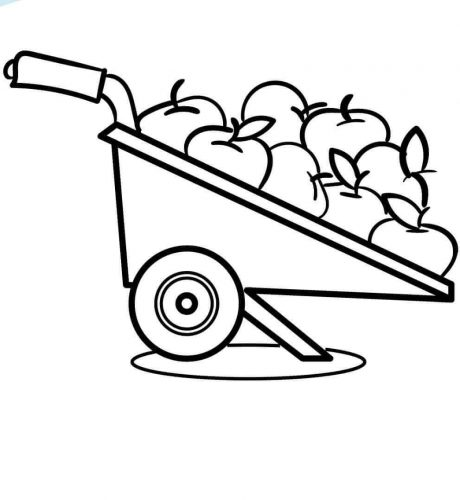 Fall Apples Coloring Pages
