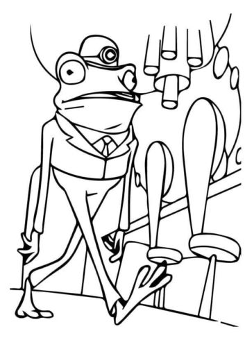 Frankie The Frog Coloring Page