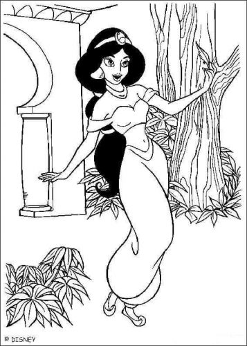 princess jasmine coloring pages printable