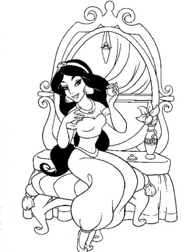 Free Printable Princess Jasmine Coloring Pages