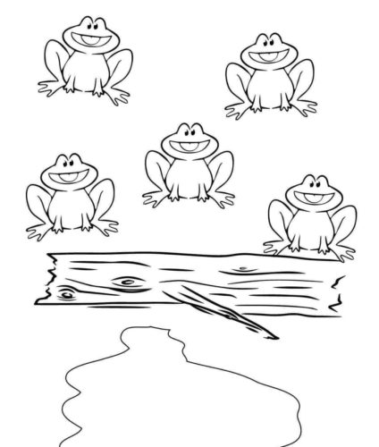Frog Family Coloring Page