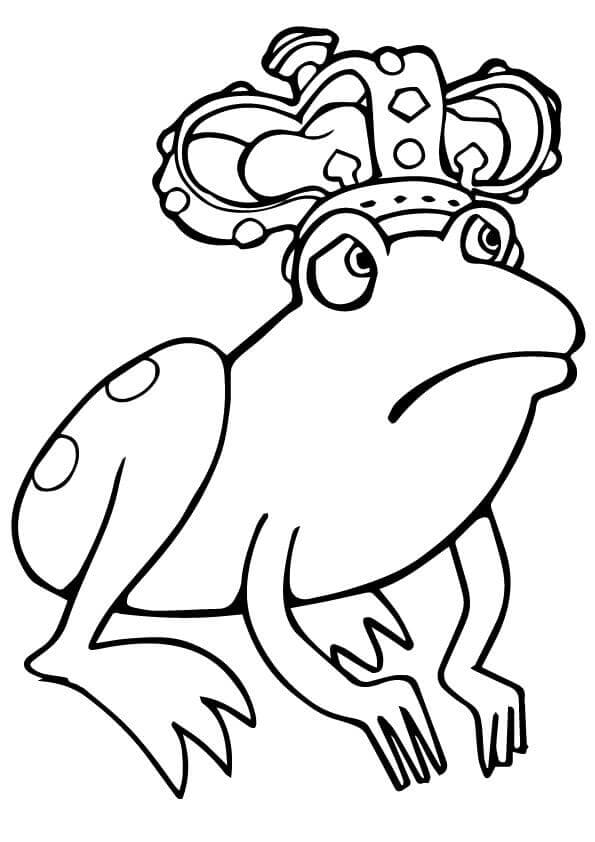Frog Prince Coloring Page