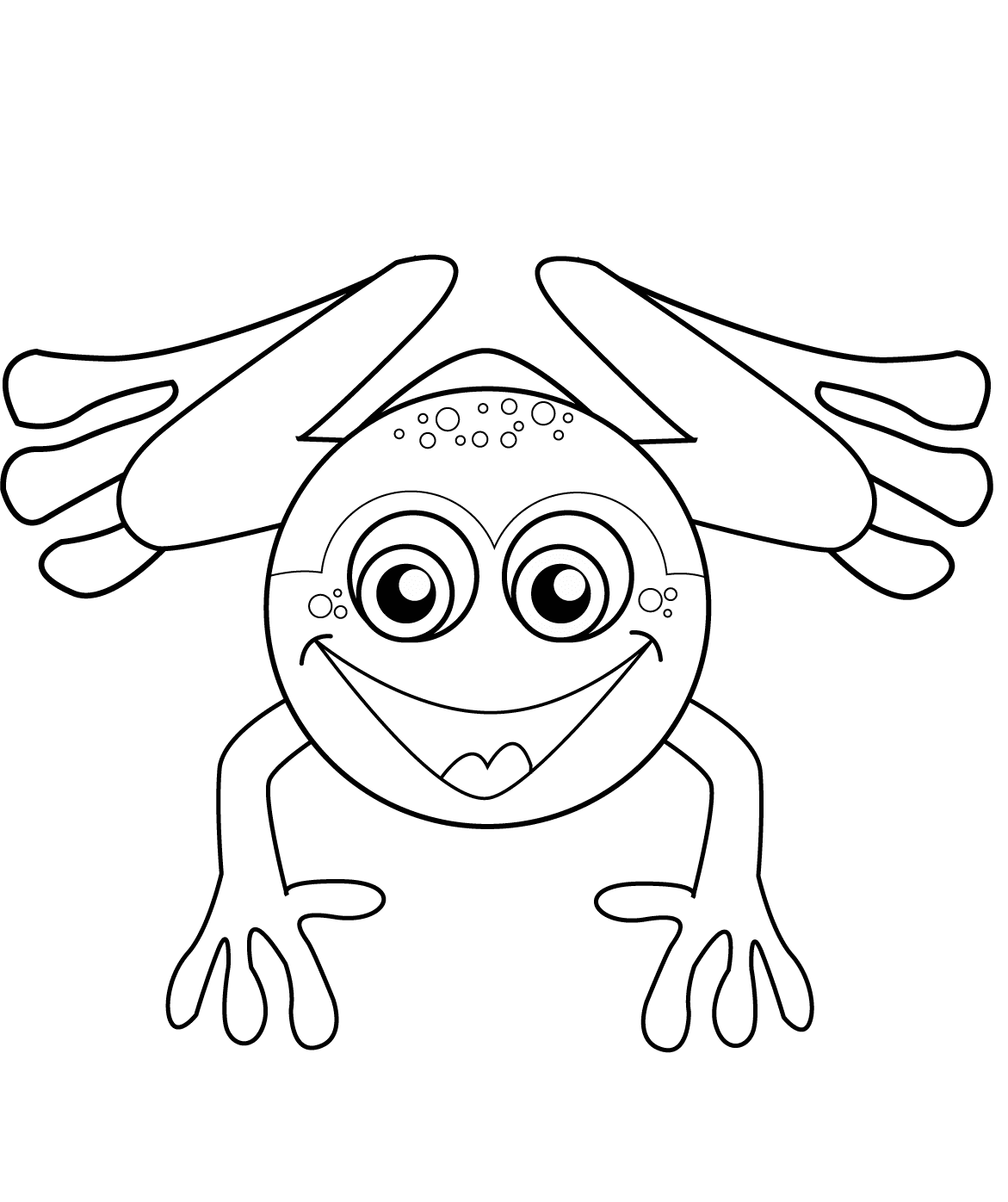 Happy Frog Colouring Page