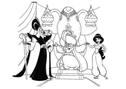 Jasmine Coloring Pages Printable