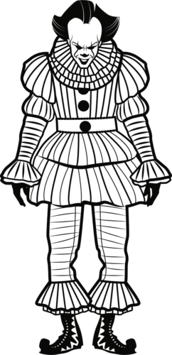 Pennywise From It Movie Coloring Page