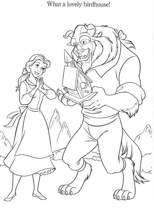 Princess Belle Coloring Sheets