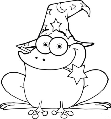Wizard Frog Coloring Picture