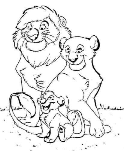 A Lion Family