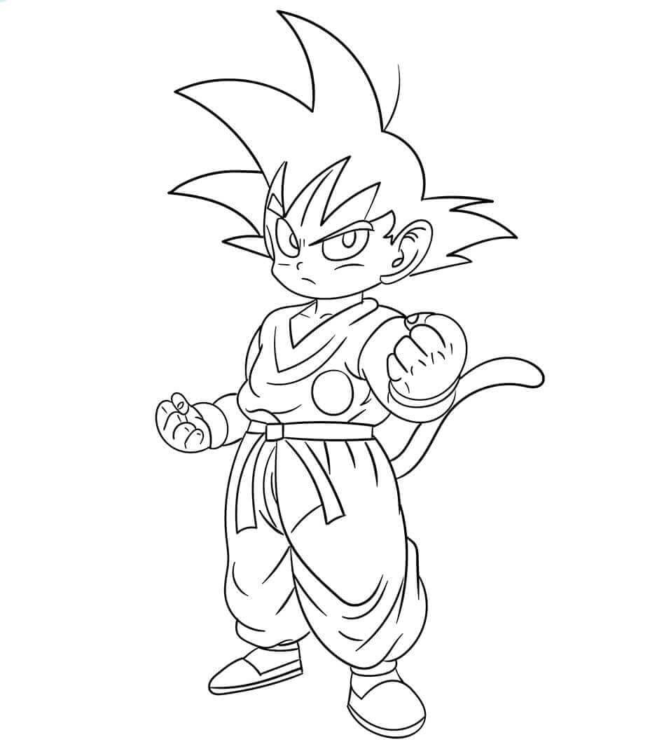 Baby Goku From Dragon Ball Z