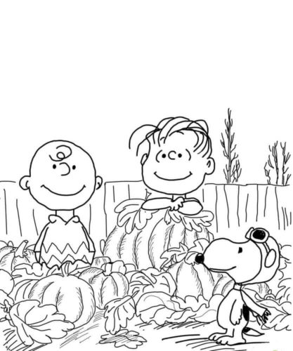 Charlie Browns Pumpkin Coloring Page