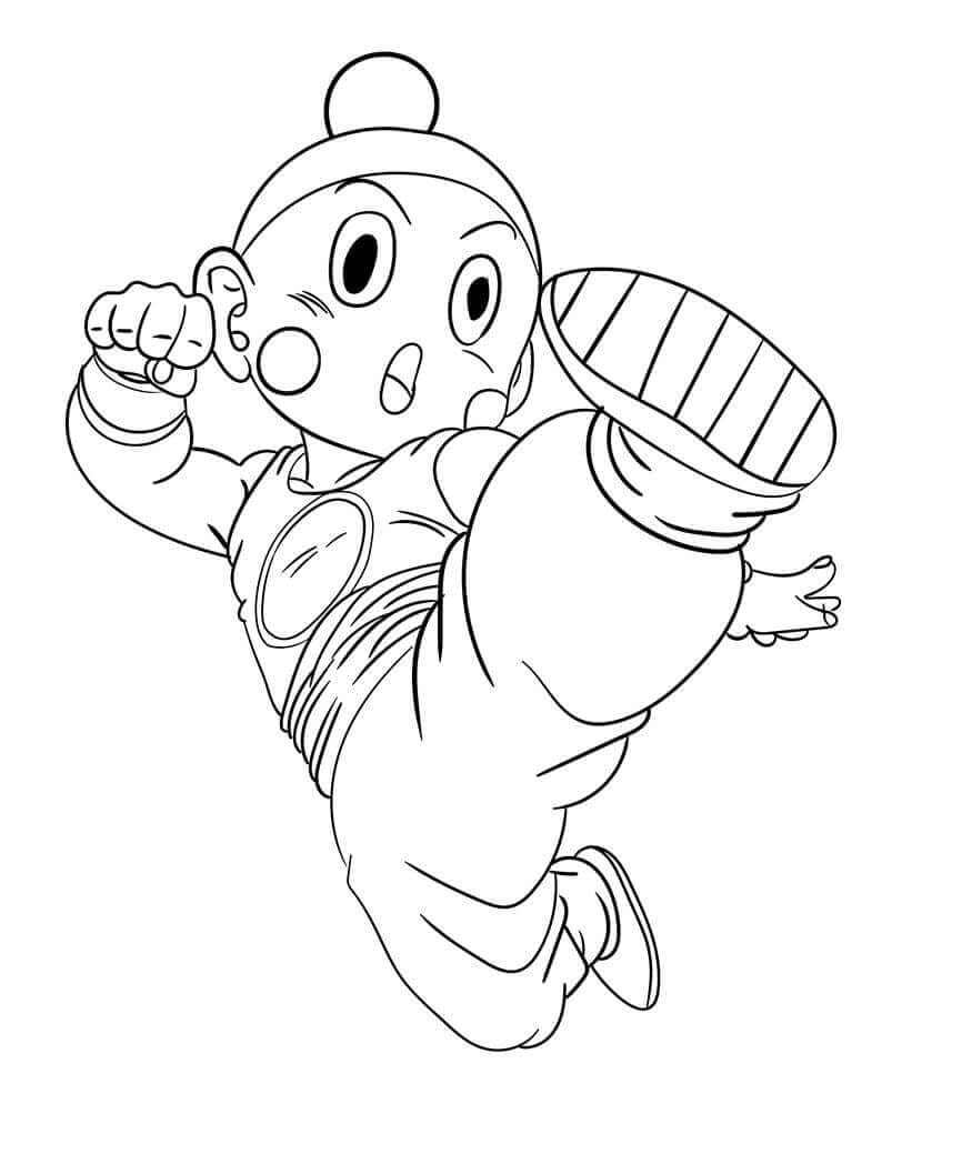 Chiaotzu From Dragon Ball Z Coloring Page