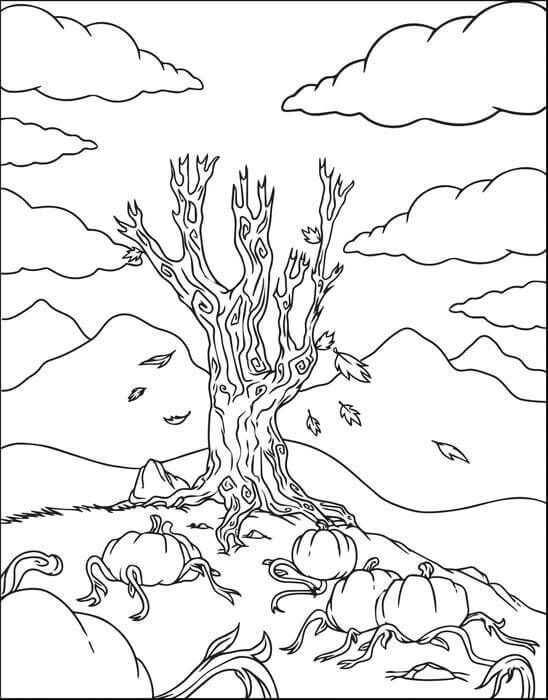 Creepy Pumpkin Patch Coloring Pages