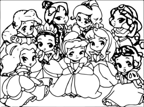 Cute Baby Disney Princess
