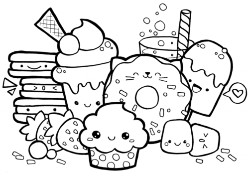 Cute Coloring Pages Of Foods
