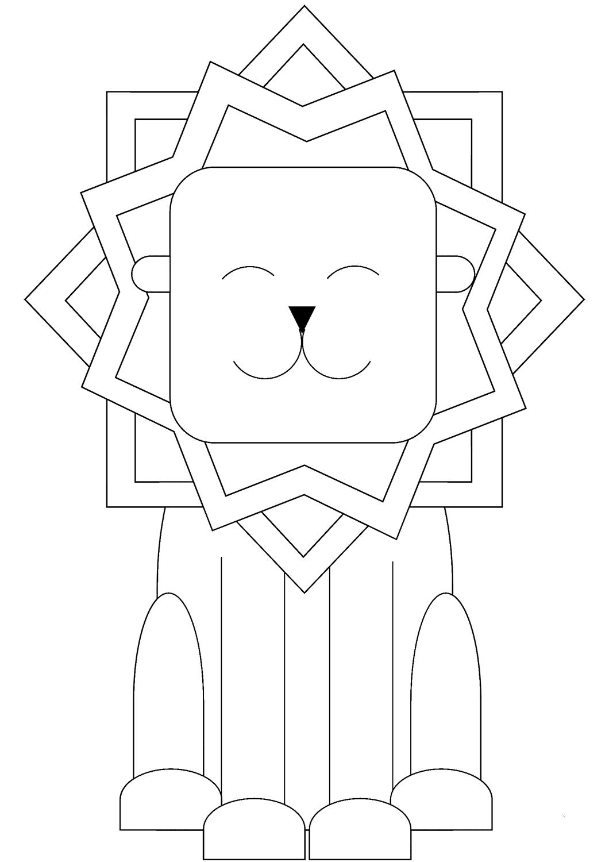 Cute Lion Coloring Pages