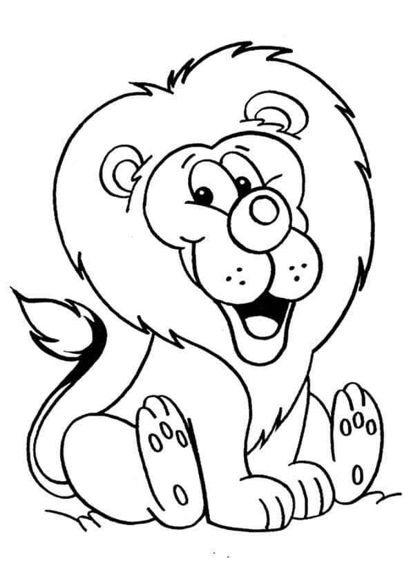 Lion Looks Happy