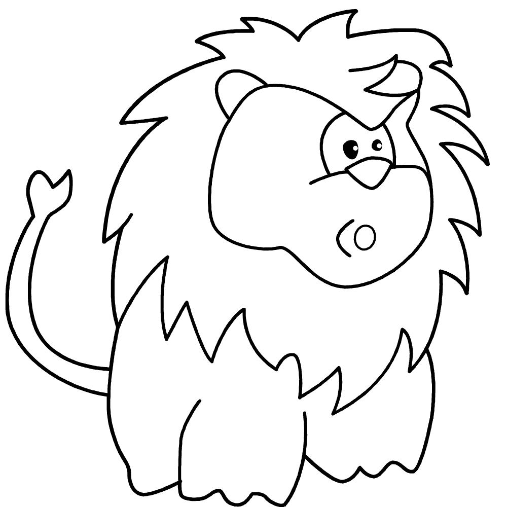 Lion Looks Surprised
