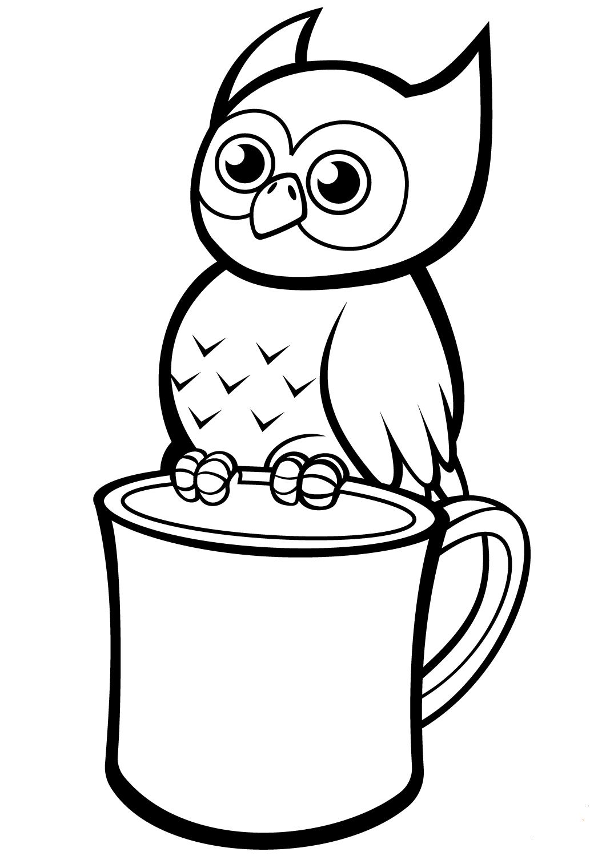 Owl Perched On a Mug