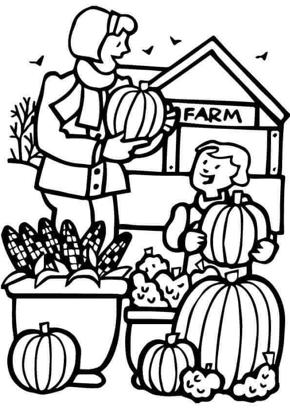 Pumpkin Farm Coloring Pages